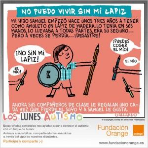 Los lunes Autismo - No puedo vivir sin mi lápiz