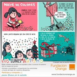 Los lunes Autismo - Nieve de colores