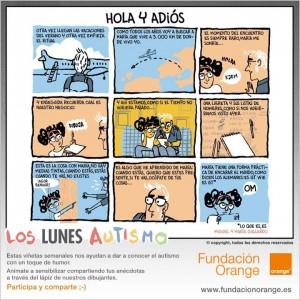 Los lunes Autismo - Hola y adiós