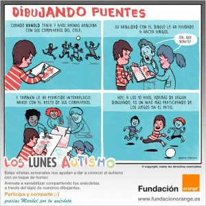 Los lunes Autismo - Dibujando puentes