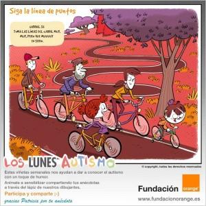 Los lunes Autismo - Siga la línea de puntos