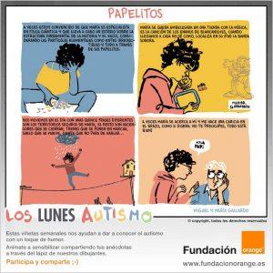 Los lunes Autismo - Papelitos