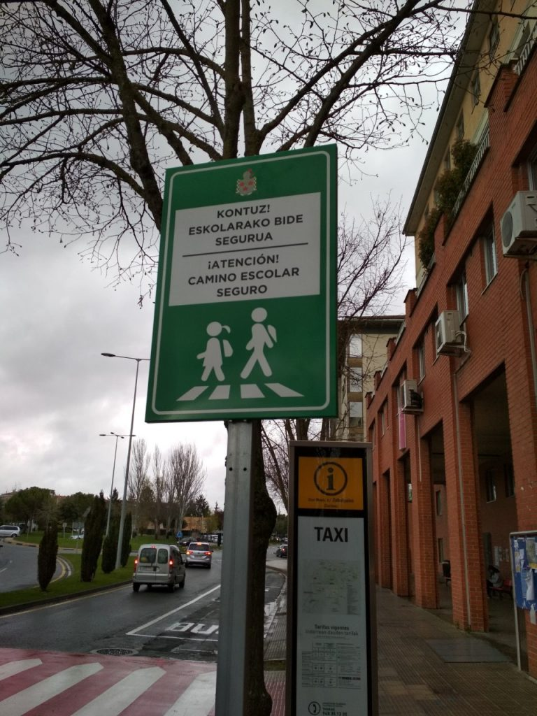Caminos Escolares Seguros (Zizur Mayor) - Señal vertical
