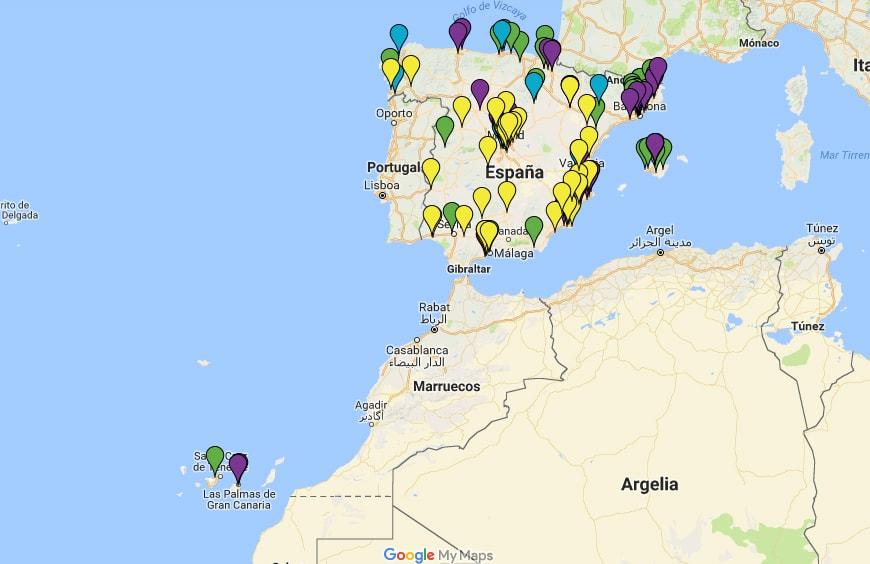 Trasteando en la escuela - Mapa de trasteadores