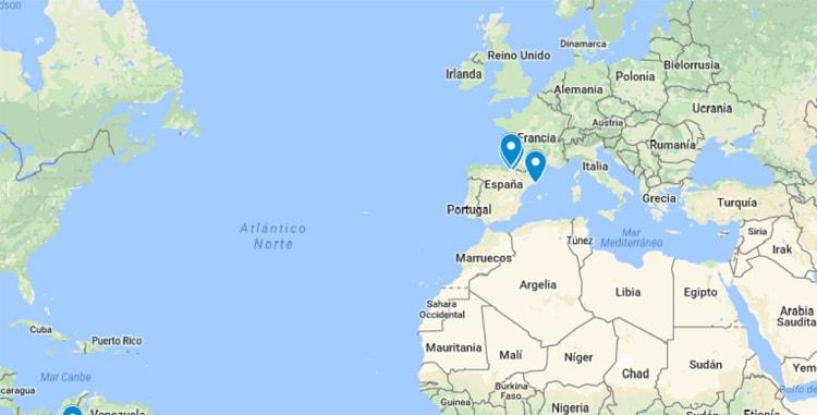 Aprenderlachispa - Mapa de viajes